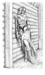 Tavern dancer by Morwan