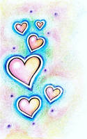 Crayon Hearts by DinchtGirlie