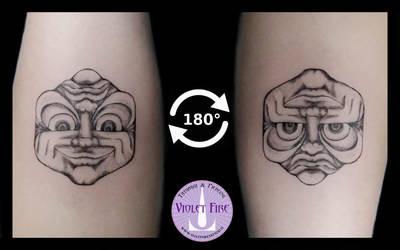 Inversion Illusion Tattoo by Adam Raia by Violet-Fire-Tattoo