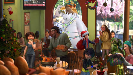 Christmas At Lucky Cat Cafe by goodnesslove
