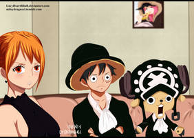 Nami, Luffy and Chopper - One Piece by LucyHeartfiliaR