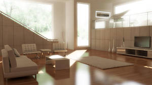 White Living Room by imonkey89