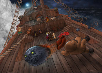 Bears and Scares at Sea by ImaginosWorkshop