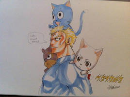 Fairy Tail - Laxus and the Exceeds by Piratenking