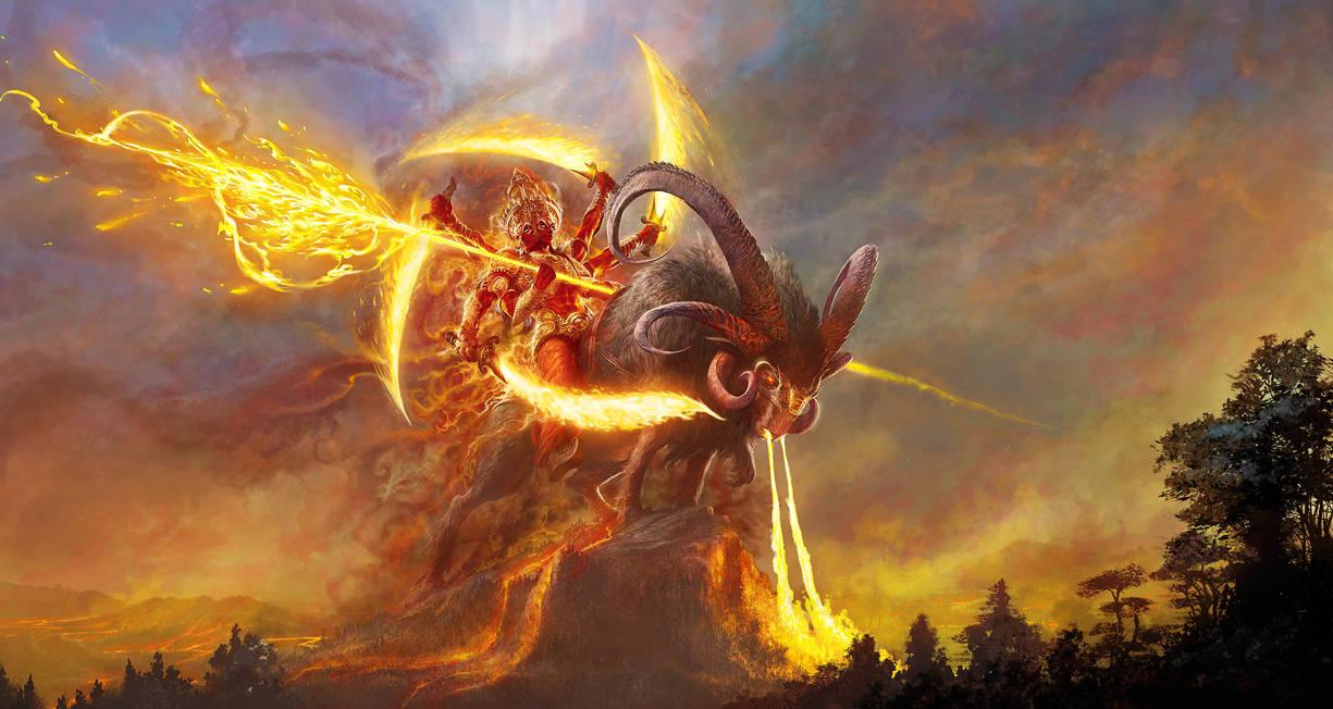Lord Agni by Nisachar