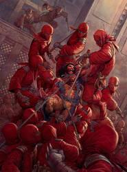 Imagine FX _ Wolverine VS Ninjas Workshop by Nisachar