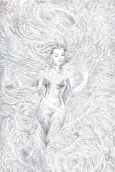 Phoenix Resurrection Cover Pencils by Nisachar
