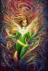 Phoenix Resurrection Variant Cover by Nisachar