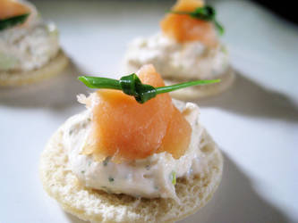 Salmon Mouse on a canape by NEalMister