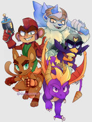 The Gang's All Here by cloudypouty