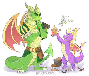 Nestor And Spyro by cloudypouty