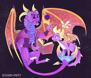 Azizi And Spyro by cloudypouty