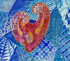 Zentangle Heart by Eirieniel