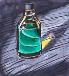 Inktober 18 - Bottle by Eirieniel
