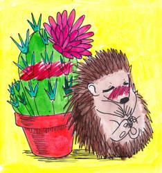 Inktober 25 - Prickly by Eirieniel