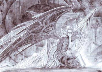 sad fallen angel by Martinhoo