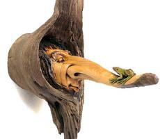 Tree Frog  Tree Spirit by psychosculptor