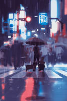 Neon rain by snatti89