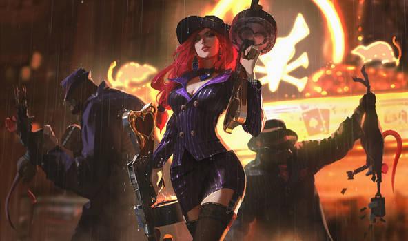 League of Legends - Mafia Miss Fortune by snatti89