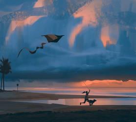Flying a kite by snatti89