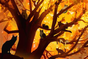 autumn cats by snatti89