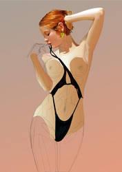 Black Bikini WIP by GraphicDream
