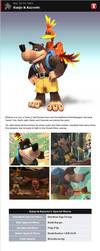 Banjo-Kazooie in Smash Bros. Dojo! by romisnalo31