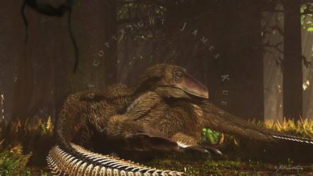 Utahraptors Repose by PaleoGuy