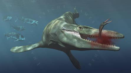 Tylosaurus by PaleoGuy