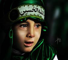Child crying in Ashuraa by HadiAlakhras