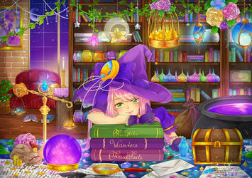 The Witch's Study by FruitTartz