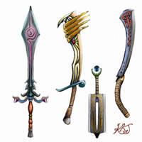 Weapon designs. by GreenAirplane