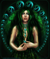 Deep Green - Emerald by MagicnaAnavi