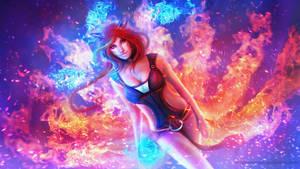 Foxfire Ahri - the Nine-Tailed Fox by MagicnaAnavi