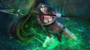 Nidalee - the Bestial Huntress by MagicnaAnavi