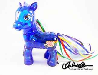 Nyan Cat Custom Pony by thatg33kgirl