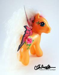 Flutter Rouge custom MLP fairy by thatg33kgirl
