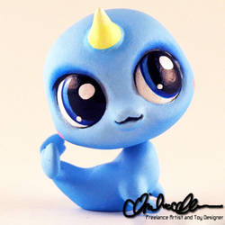 Belle the Baby Narwhal Custom LPS by thatg33kgirl
