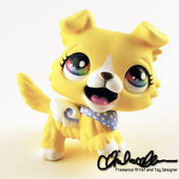 Sunny the Collie custom LPS by thatg33kgirl