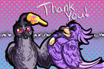 Thank you! by Glitchdove