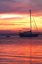 Sunset at Bribie Island by Abatwa-Oolie