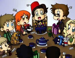 Doctor Who Celebration! by bones-sickle