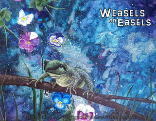 Pansy - Frog in Space by WeaselsOnEasels