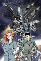 Space Mecha- Blue by Aricosaur
