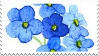 Forget me not stamp by Forgets-me-not
