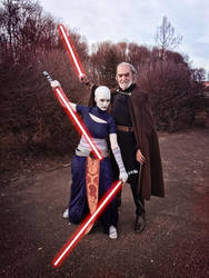 Count Dooku and Asajj Ventress by CerseiDM