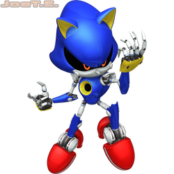 Metal Sonic (2016 Render #1) (July 2016 Edit) by JoeTEStrikesBack