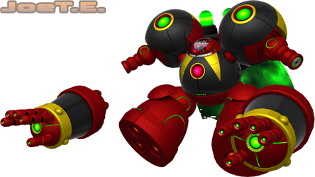 Eggman Nega (Lost World Style) Render by JoeTEStrikesBack