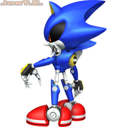Metal Sonic (2016 Render #2) (July 2016 Edit) by JoeTEStrikesBack