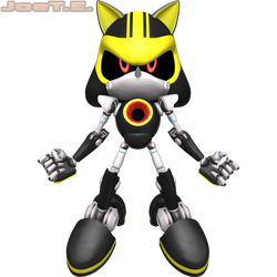 Metal Sonic 3.0 (2016 Render #2) by JoeTEStrikesBack